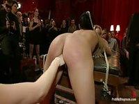 Horny slaves show