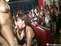 Slutty party girls are desperate for stripper cock
