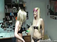 College girls exercise before fucking