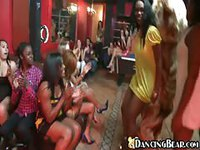 Strippers put on show for drunk party girls