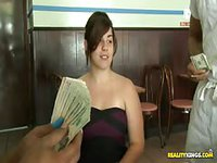 Girls flash tits in public for cash