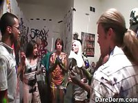 College kids go crazy with paint orgy