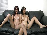 Sexy young babes in a naughty audition
