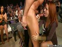 Mature sluts go crazy for stripper cock