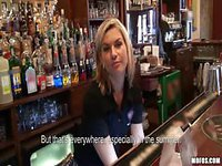 Beautiful bartender gets an offer
