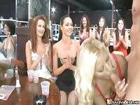 Male stripper got wild in a club