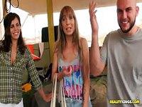 Mechanic bangs a hot blonde