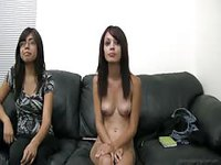 Two young ladies want to be porn stars