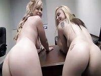 Blondes Working Fuck Stick