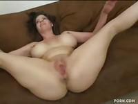 Amateur with huge tits bareback fucked