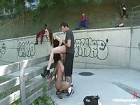 Amateur fisted and disgraced in public