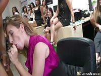 Office skanks blowing big black dick