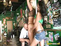 Money hungry amateur girls doing dirty things for strangers