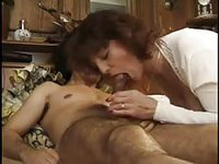 Pleasing old slut letting this guy use all of her precious holes