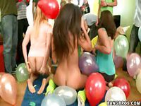 Sexy party with balloons