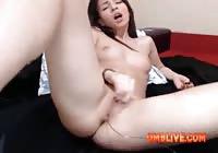 Cutey Brunette Enjoying OMBLIVE Vibe Make Her More WET