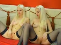 Awesome live streaming webcam video featuring blonde twin sisters enjoying girl-on-girl