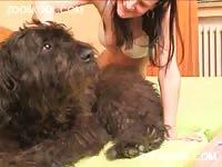 Horny Moldavian slut gets wildly fucked by her dog