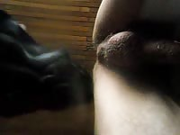 Horny teacher with a big cock gets sexually aroused in the living room