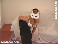 Zooskool - Fuck-hungry Russian teenage is getting assfucked by her dog