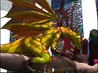 Crazed beast with massive wings having its way with a helpless man in this animated xxx vid