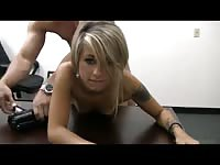 Cute teen girl looks like it's her first time being screwed in this hardcore casting couch video