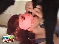 Ariel Dog - Asian schoolgirl enjoys sucking her dog's small dick