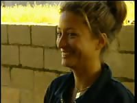 Rebecca loos and pig in the farm2