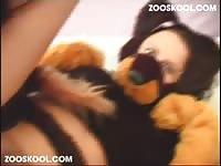 Zooskool dog toril 2 on slave on dog porn zoosex porn dog