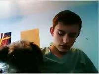 Cute Guy Lets Dog Lick Himself GayBeast.com - Bestiality Man