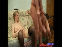 Russian Mature Lesson Jura Masha and Julia